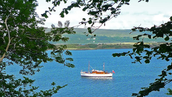 Photograph of Chico moored in Tobermory Bay