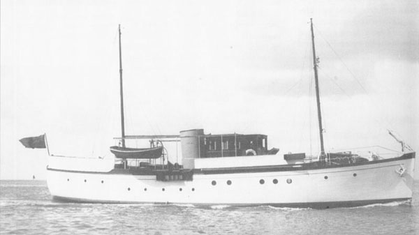 Photograph of Chico just after she was built in t 1932