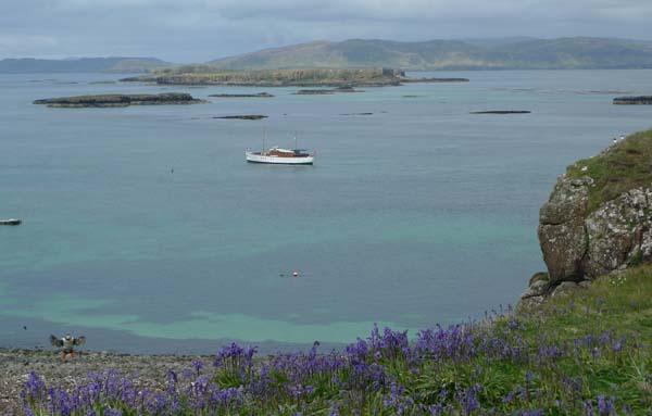 Motor Yacht Chico in the Lunga, Treshnish Isles
