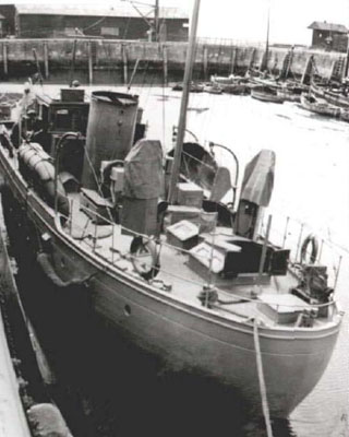 Photograph of a moored wartime Chico
